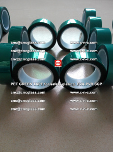 Green Ribbon Tape for safety laminated glass galzing (35)