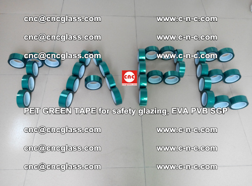 Green Ribbon Tape for safety laminated glass galzing (50)