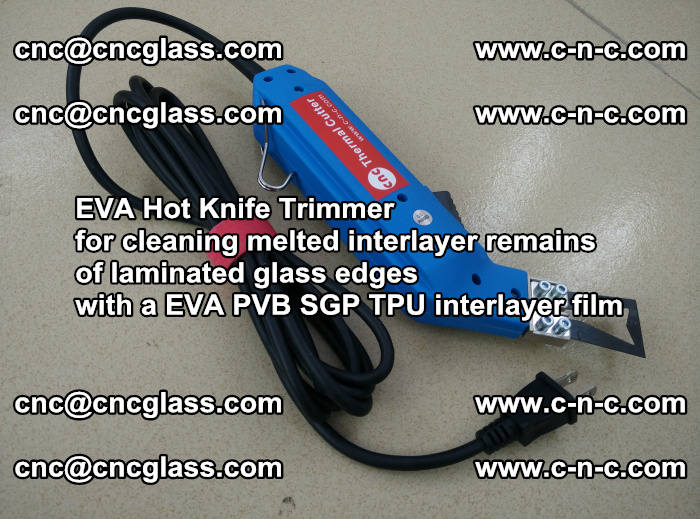 EVA Hot Knife Trimmer for cleaning interlayer remains of solar panel modules (10)