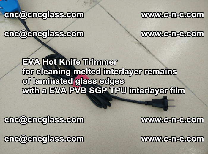 EVA Hot Knife Trimmer for cleaning interlayer remains of solar panel modules (15)