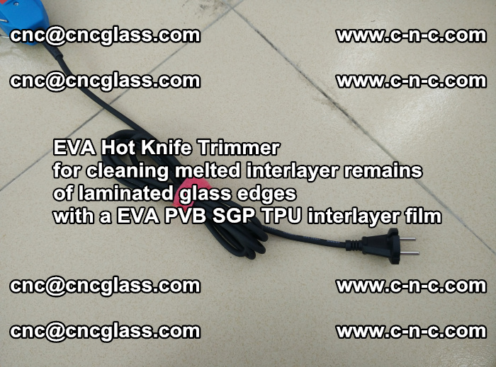 EVA Hot Knife Trimmer for cleaning interlayer remains of solar panel modules (16)