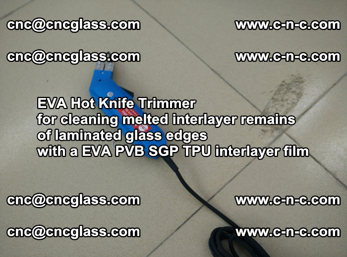 EVA Hot Knife Trimmer for cleaning interlayer remains of solar panel modules (17)