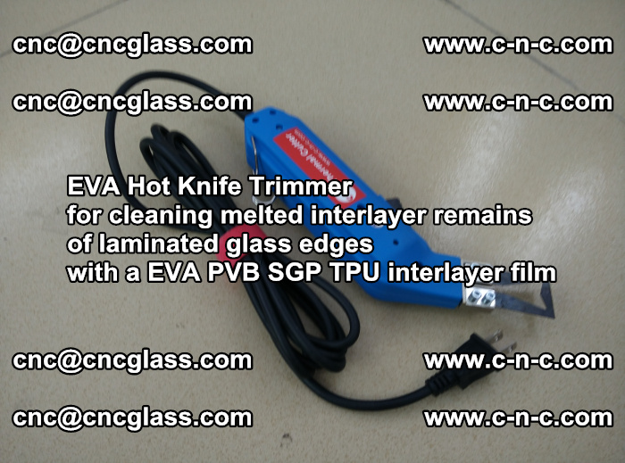 EVA Hot Knife Trimmer for cleaning interlayer remains of solar panel modules (21)