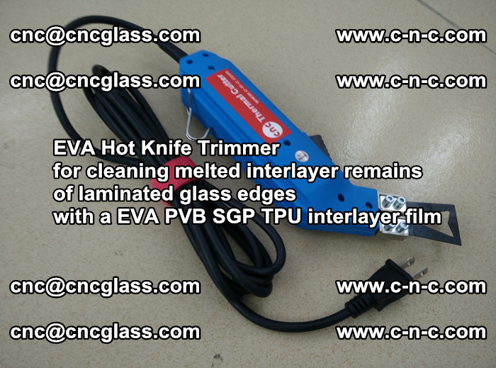 EVA Hot Knife Trimmer for cleaning interlayer remains of solar panel modules (22)
