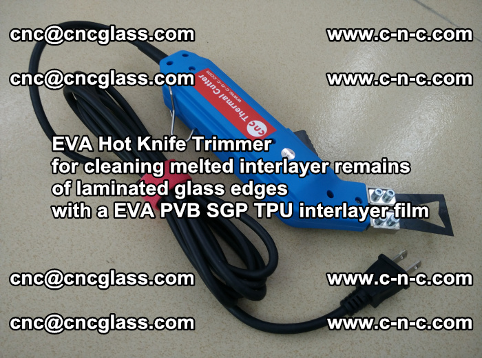EVA Hot Knife Trimmer for cleaning interlayer remains of solar panel modules (25)