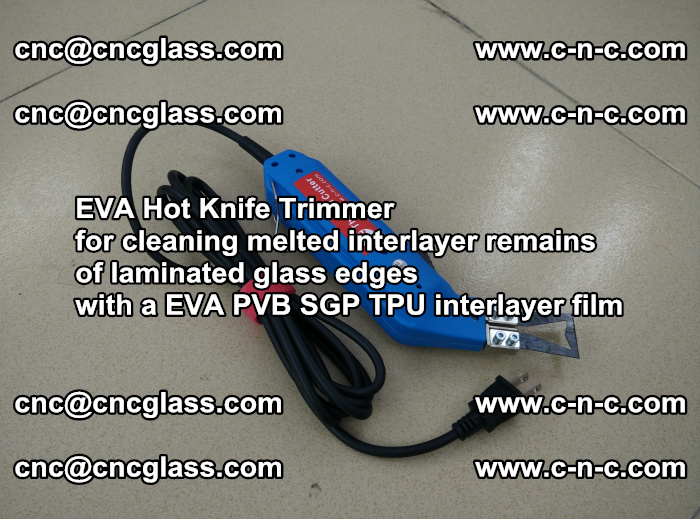 EVA Hot Knife Trimmer for cleaning interlayer remains of solar panel modules (32)