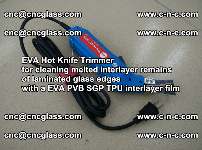 EVA Hot Knife Trimmer for cleaning interlayer remains of solar panel modules (36)