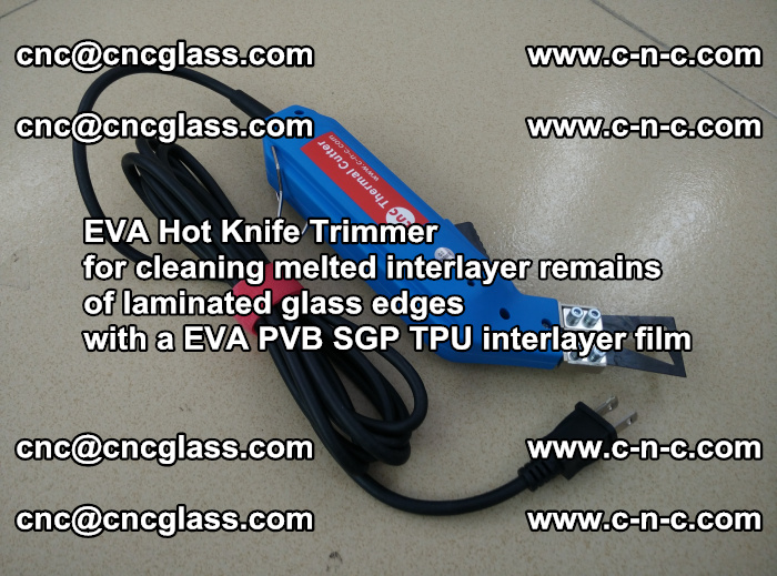 EVA Hot Knife Trimmer for cleaning interlayer remains of solar panel modules (37)