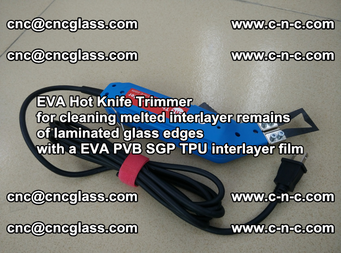 EVA Hot Knife Trimmer for cleaning interlayer remains of solar panel modules (4)