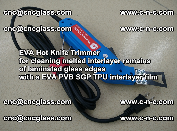 EVA Hot Knife Trimmer for cleaning interlayer remains of solar panel modules (42)