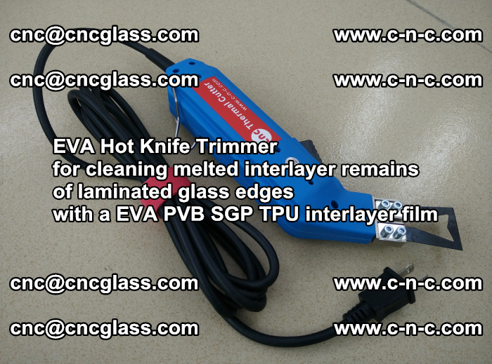 EVA Hot Knife Trimmer for cleaning interlayer remains of solar panel modules (44)