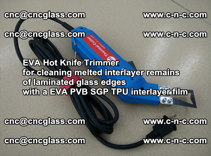 EVA Hot Knife Trimmer for cleaning interlayer remains of solar panel modules (45)