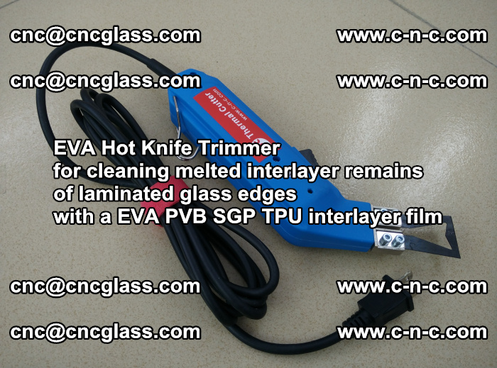 EVA Hot Knife Trimmer for cleaning interlayer remains of solar panel modules (46)