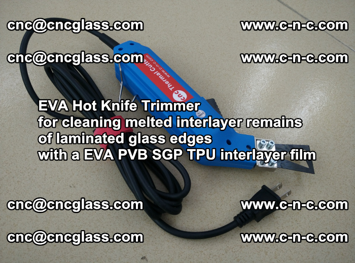 EVA Hot Knife Trimmer for cleaning interlayer remains of solar panel modules (50)